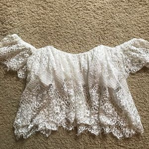 LF lace off the shoulder top